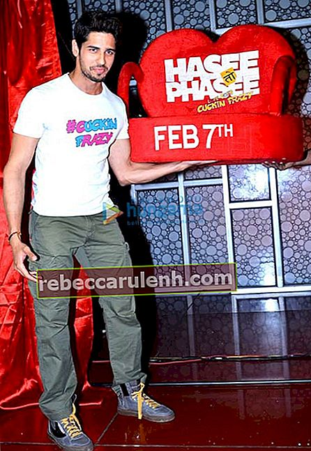 Sidharth Malhotra during 'Hasee Toh Phasee' promotion in 2014