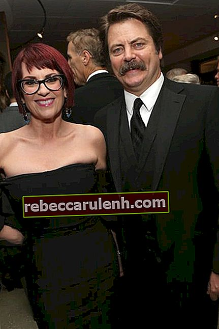 Megan Mullally und Ehemann Nick Offerman bei der Post Glob 2014 Golden Globe Awards Party von HBO in Los Angeles, Kalifornien