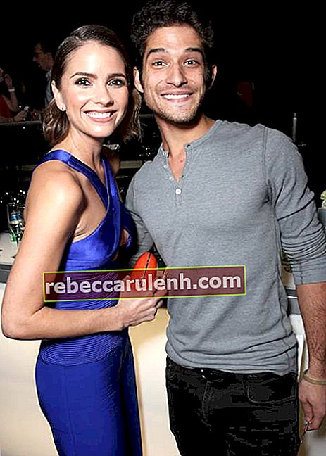 Shelley Hennig mit Tyler Posey, dem Co-Star von Teen-Wolf, bei der After-Party der People's Choice Awards im Januar 2016