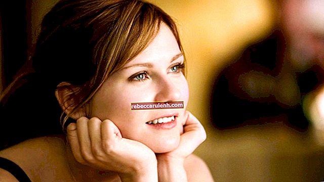 Kirsten Dunst: altezza, peso, età, statistiche corporee