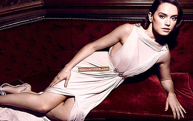 Daisy Ridley: altezza, peso, età, statistiche corporee