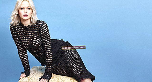 Jennifer Lawrence: altezza, peso, età, statistiche corporee