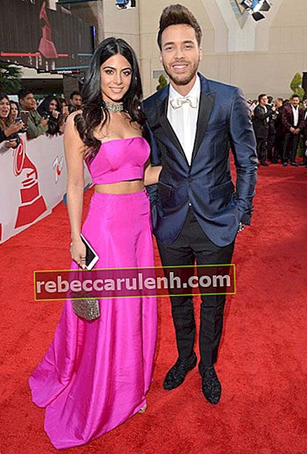 Emeraude Toubia und Freund Prince Royce bei den Latin Grammy Awards am 19. November 2015