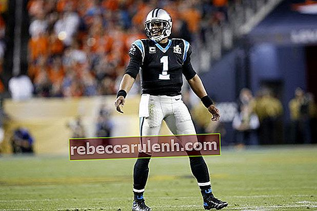 Cam Newton in Aktion gegen Denver Broncos am 7. Februar 2016 in Santa Clara