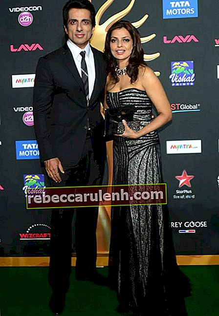 Sonu Sood und Sonali Sood beim IIFA Magic of the Movies-Event in Tampa, Florida im April 2014