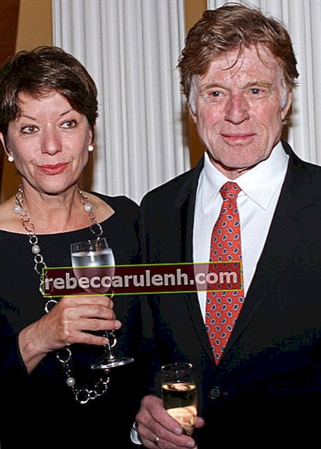 Robert Redford mit Frau Sibylle Szaggers Redford im April 2012
