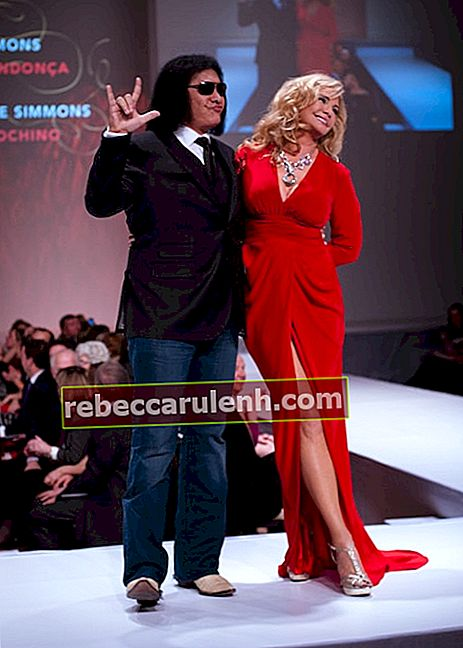 Gene Simmons w Indochino podczas pokazu celebrytów Heart and Stroke Foundation - The Heart Truth w lutym 2012 1